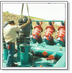 Commercial Pump Service is equiped with it's own Crane and opperators